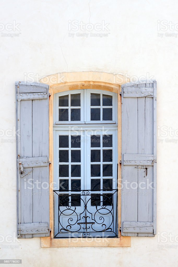 Typical window in Avignon stock photo