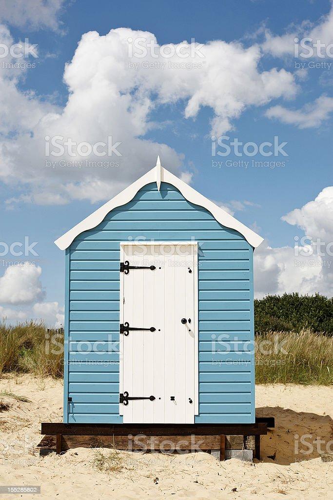 Typically English beach hut stock photo