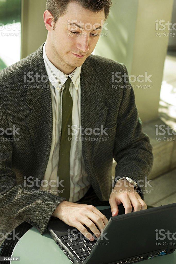 Typing Away royalty-free stock photo
