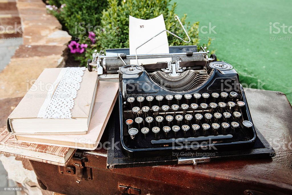 typing mashine stock photo