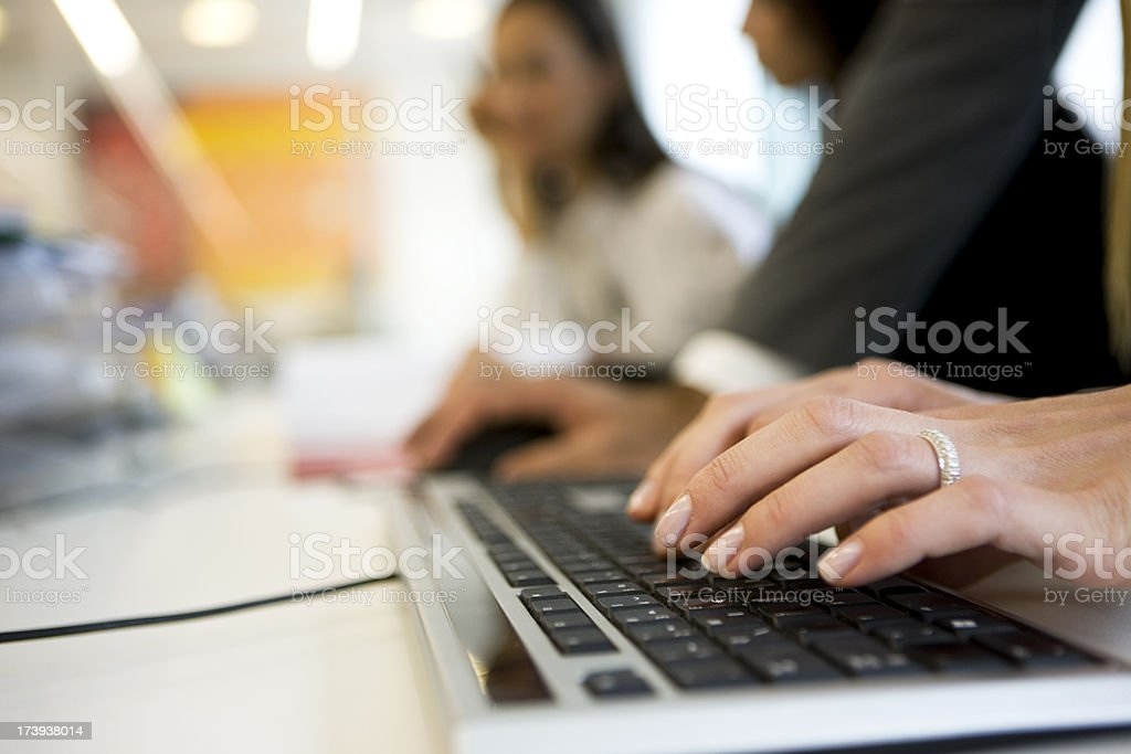Typing  on computer royalty-free stock photo