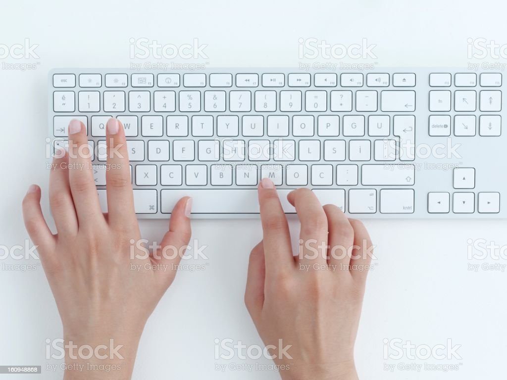 typing on keyboard. royalty-free stock photo