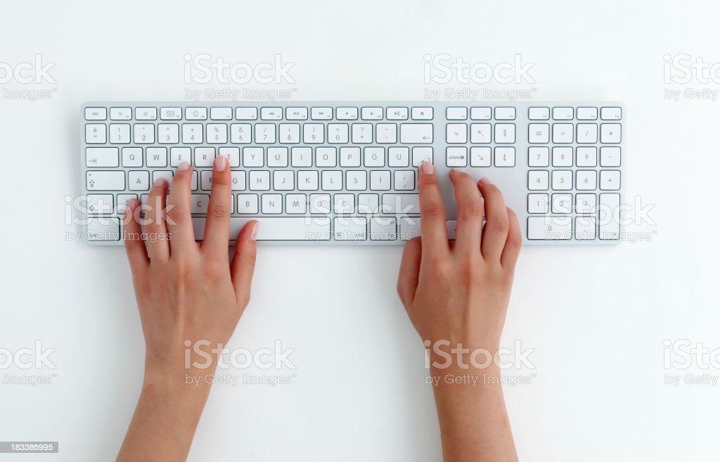typing on keyboard. royalty-free stock photo