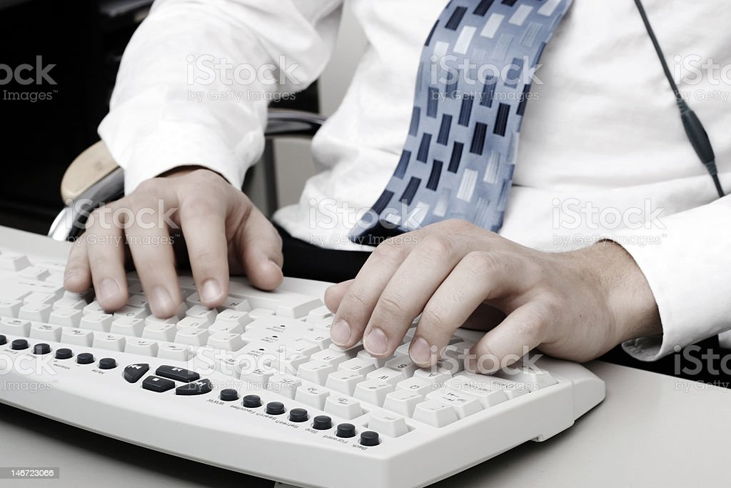 Typing on the Keyboards royalty-free stock photo