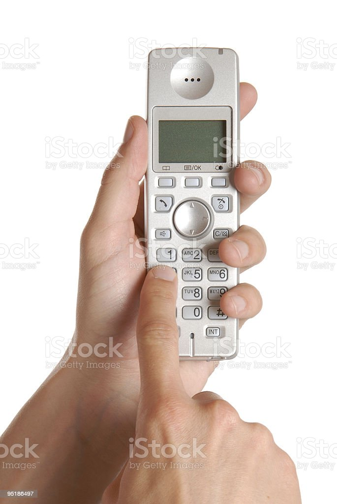 Typing On The Phone royalty-free stock photo