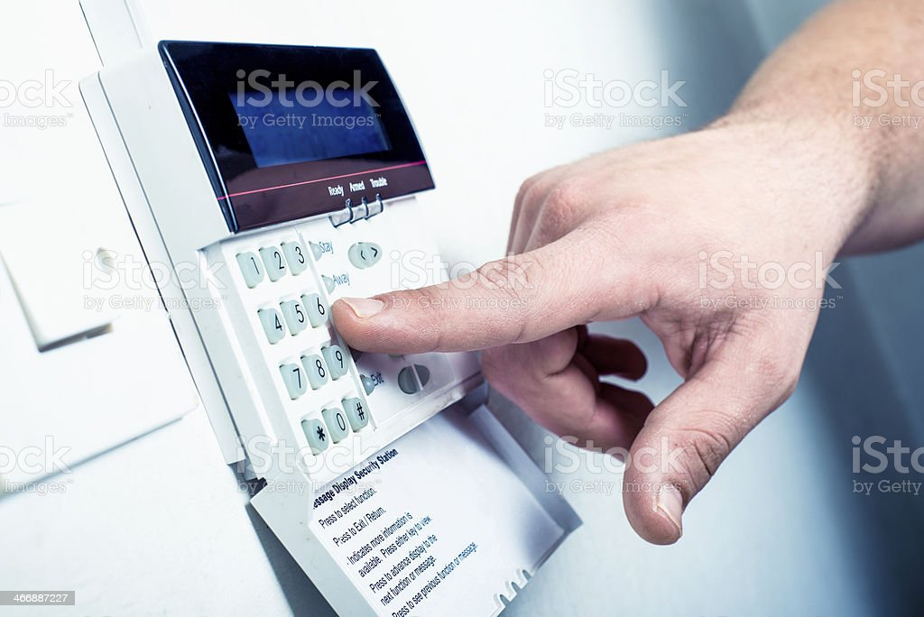Typing security code stock photo