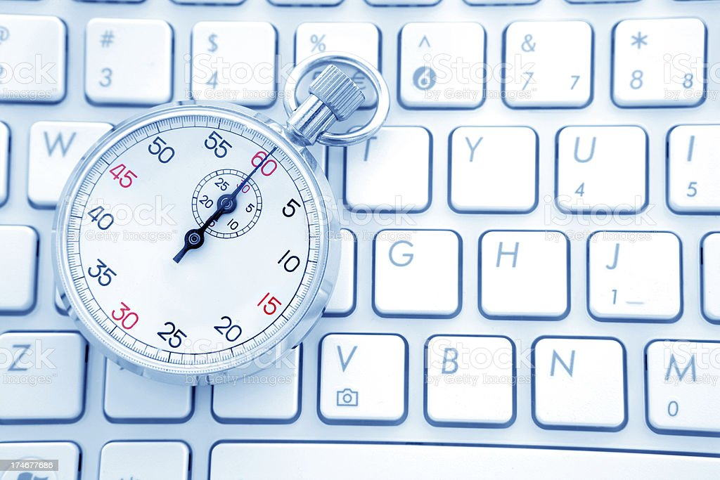 Typing Speed royalty-free stock photo