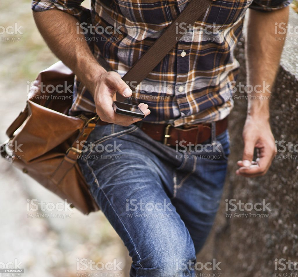 typing text message royalty-free stock photo