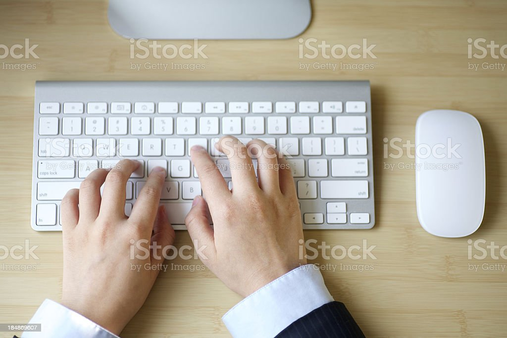 typing the keyboard royalty-free stock photo