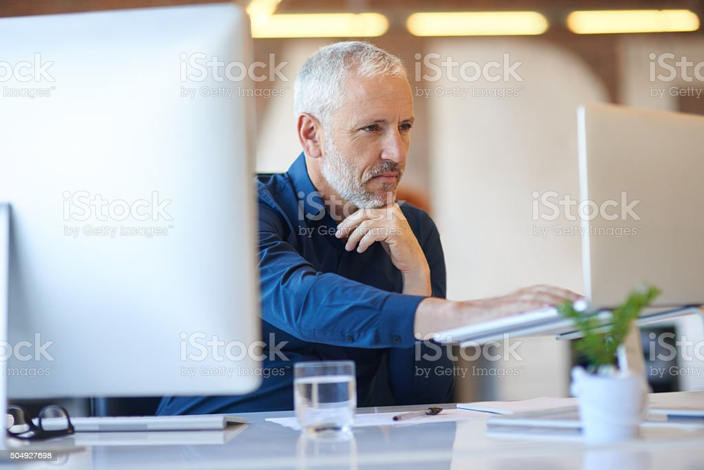 Typing up some ideas stock photo