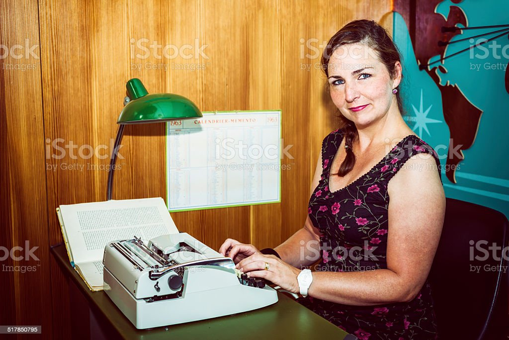 typist stock photo