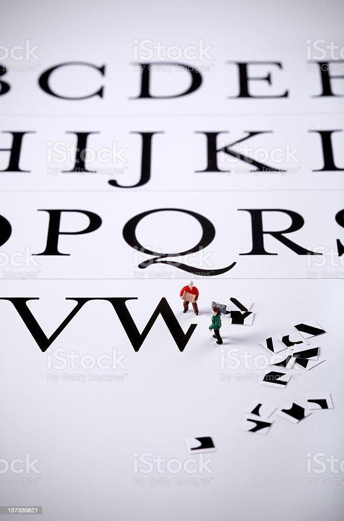 typographers royalty-free stock photo
