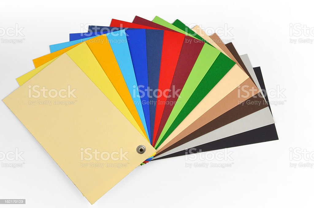 typographical color scale stock photo