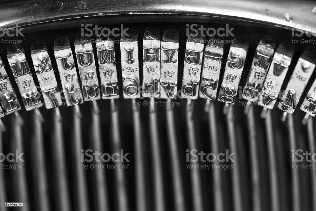 typos of an old typewriter royalty-free stock photo