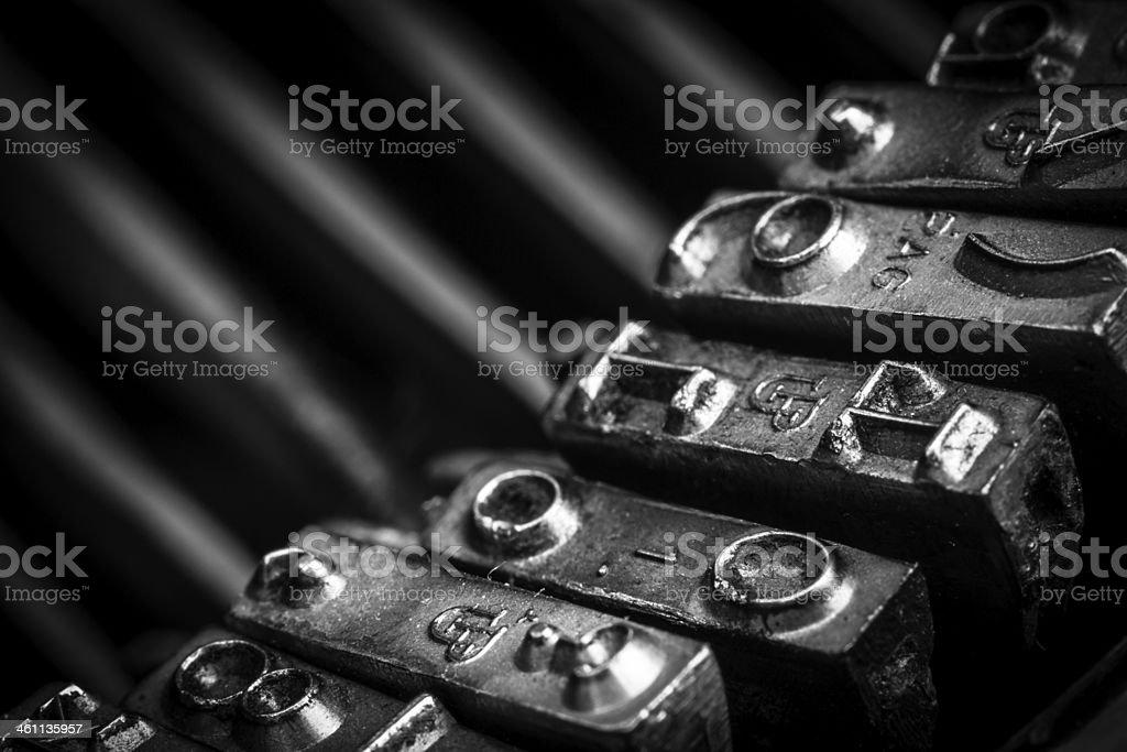 typos of an old typewriter stock photo