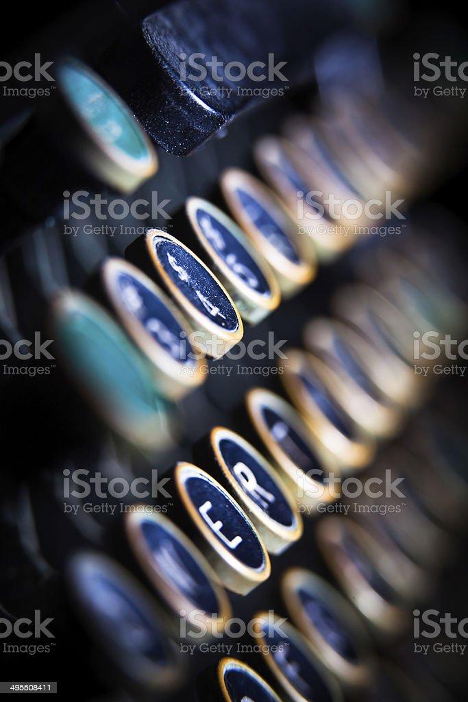 Typwriter Keyboard stock photo