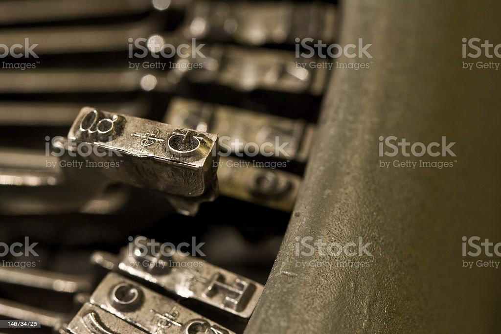 typwriter letter g royalty-free stock photo