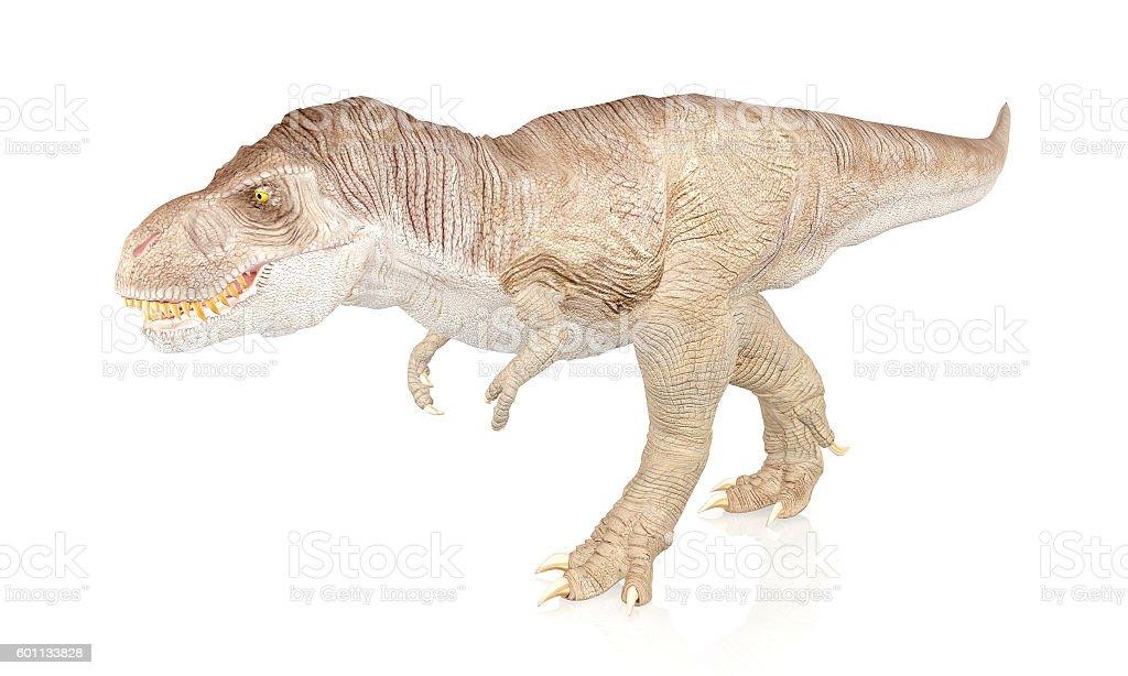 Tyrannosaurus Rex, Dinosaur isolated on white background stock photo