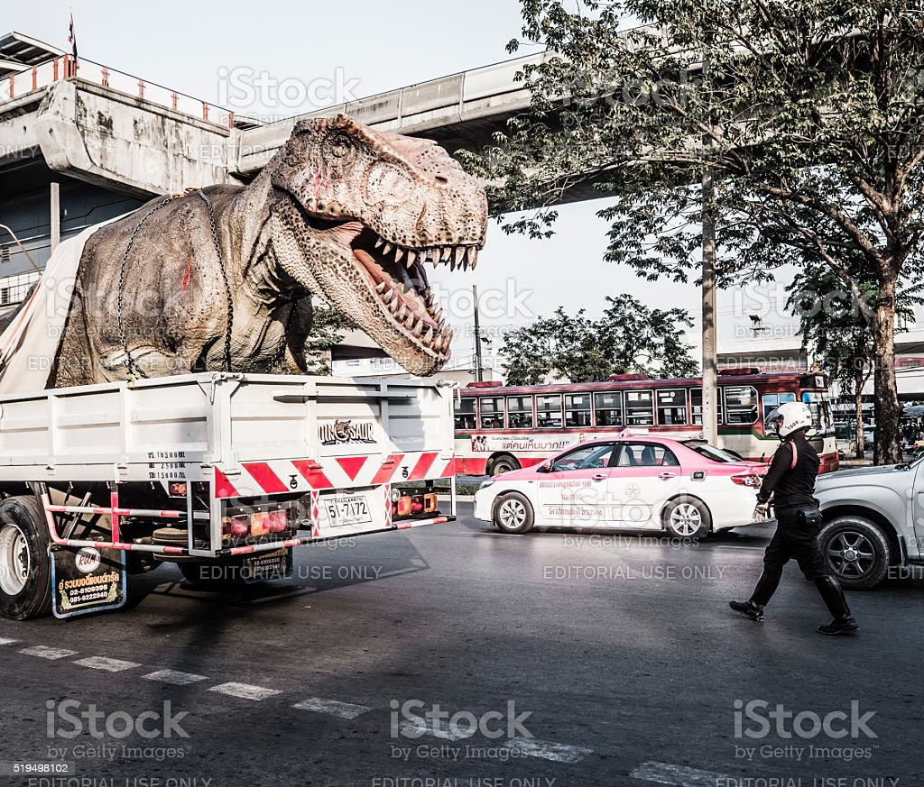 Tyrannosaurus rex in Bangkok Thailand stock photo