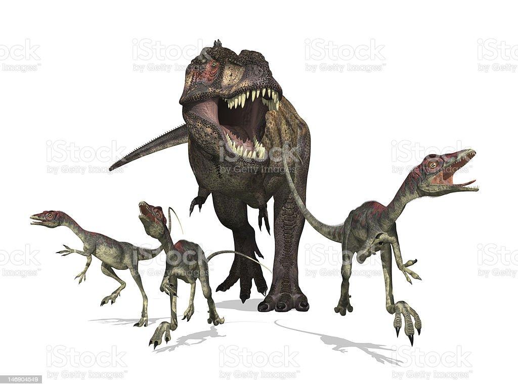 Tyrannosaurus Rex on the Hunt stock photo