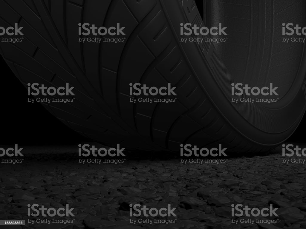 Tyre And Tarmac royalty-free stock photo