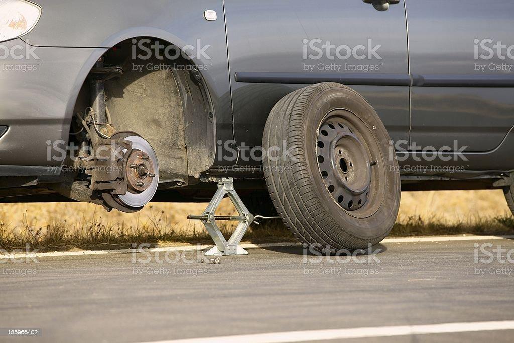 Tyre Change royalty-free stock photo