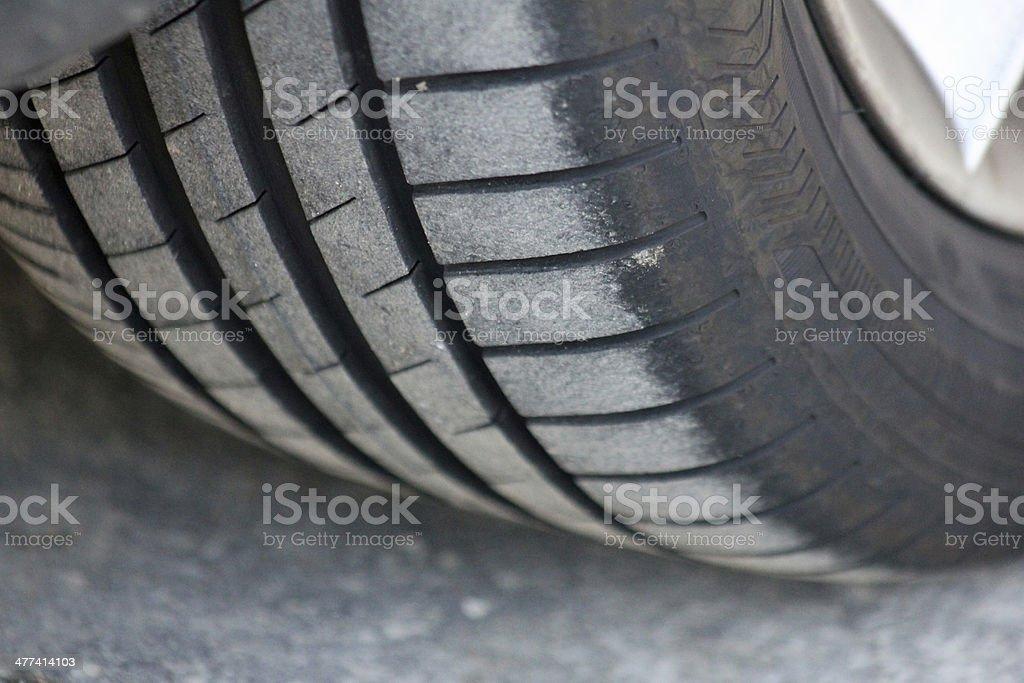 Tyre Grip stock photo