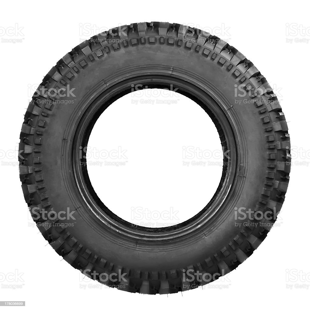 tyre isolated on white stock photo