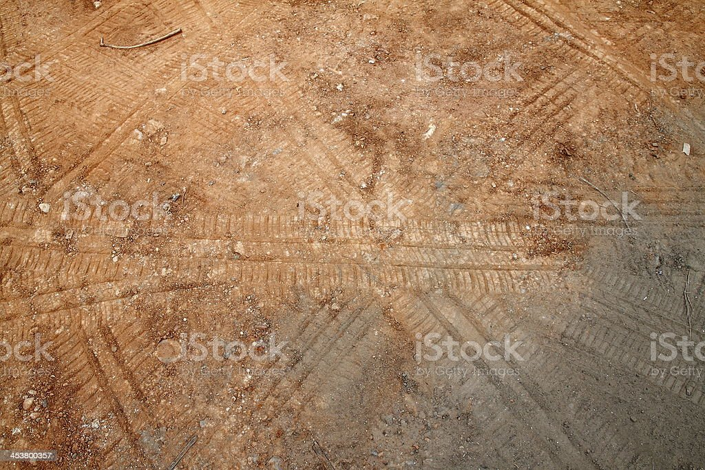 Opony mark na ziemi zbiór zdjęć royalty-free