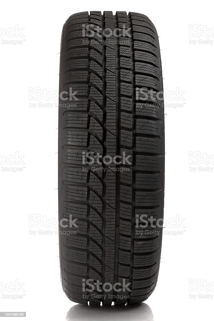 Tyre over white background stock photo