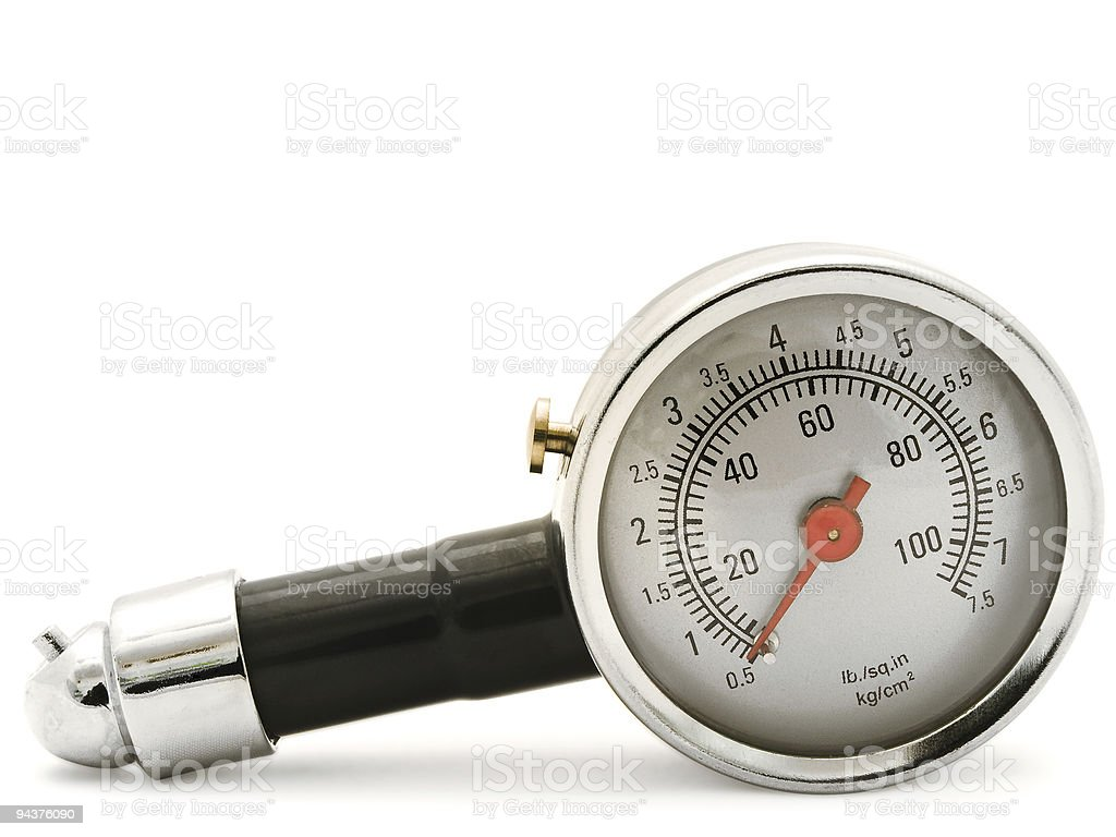 tyre pressure gage royalty-free stock photo