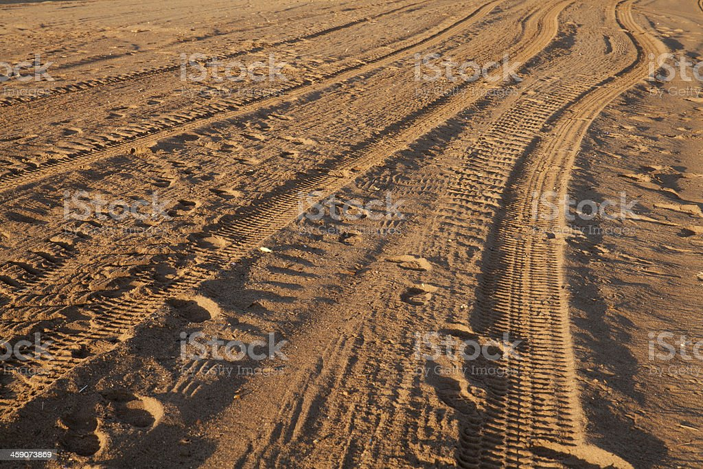 Tyre tracks stock photo