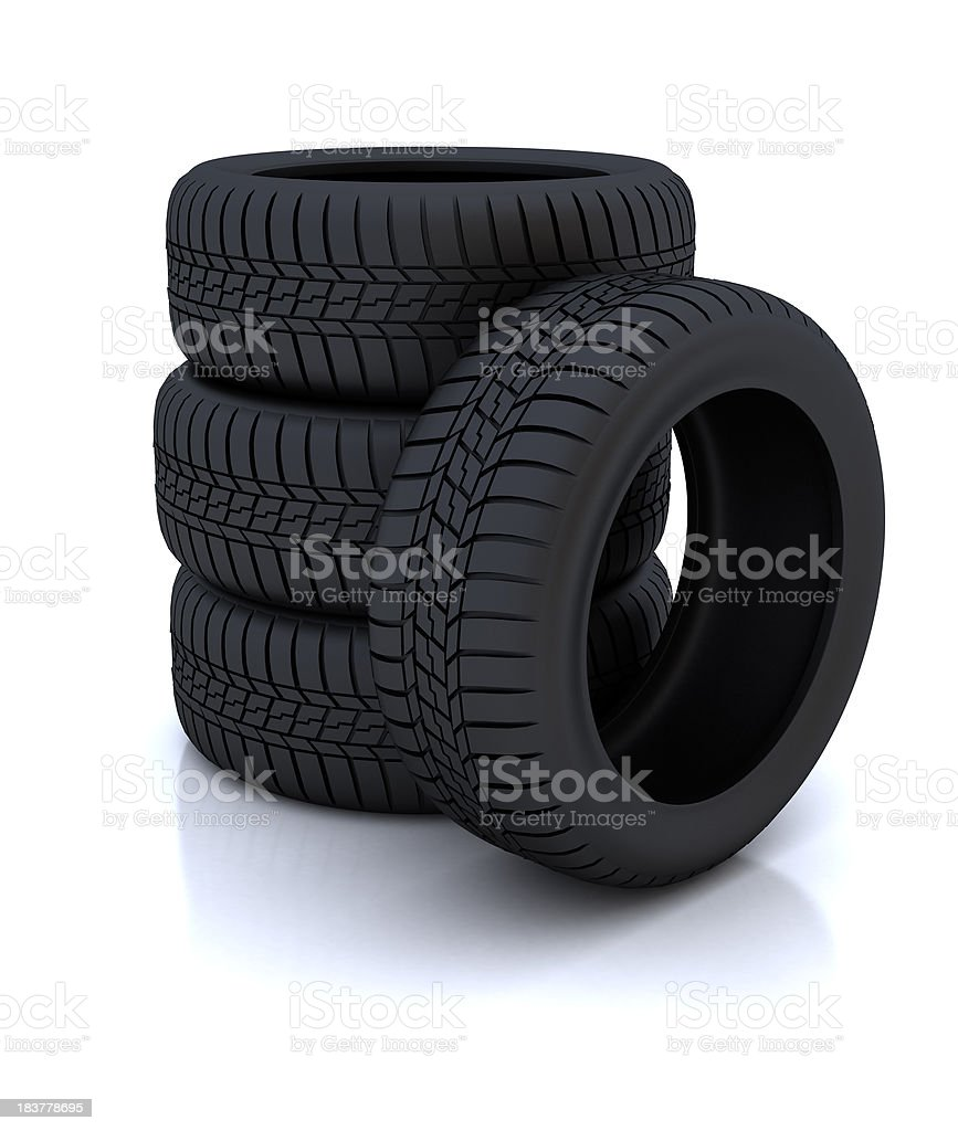 Tyre wheels royalty-free stock photo