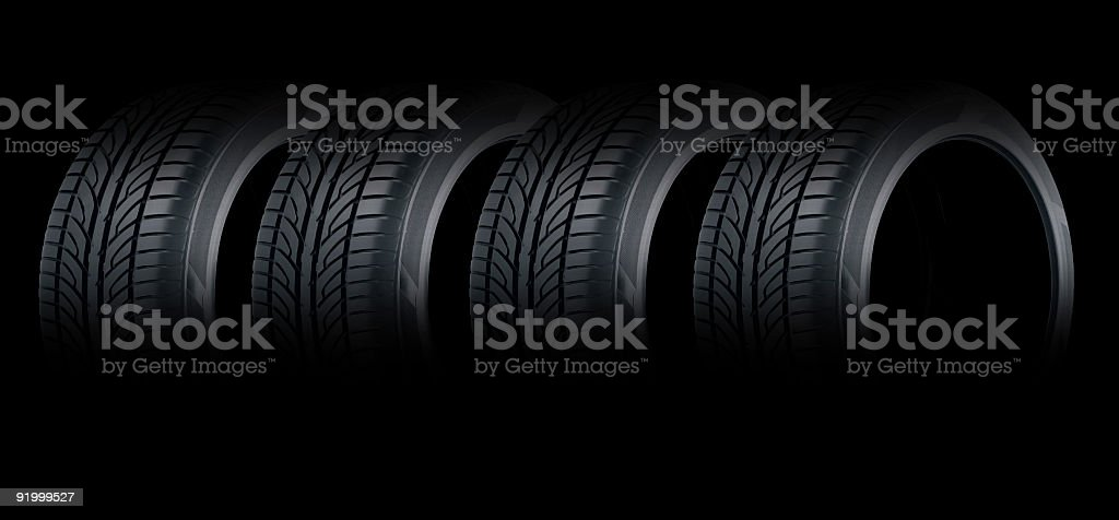 Tyres for Billboard royalty-free stock photo
