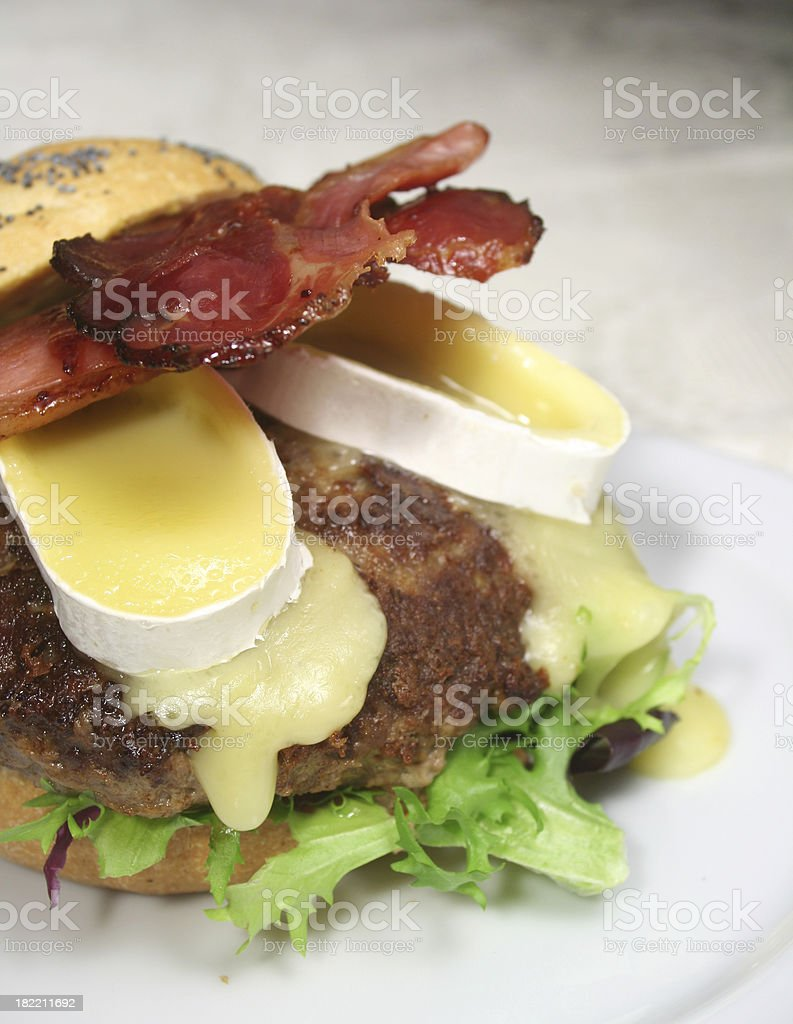 Tyrol Bacon Brie Burger royalty-free stock photo