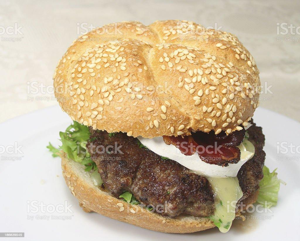 Tyrol Bacon Brie Burger royalty-free stock photo