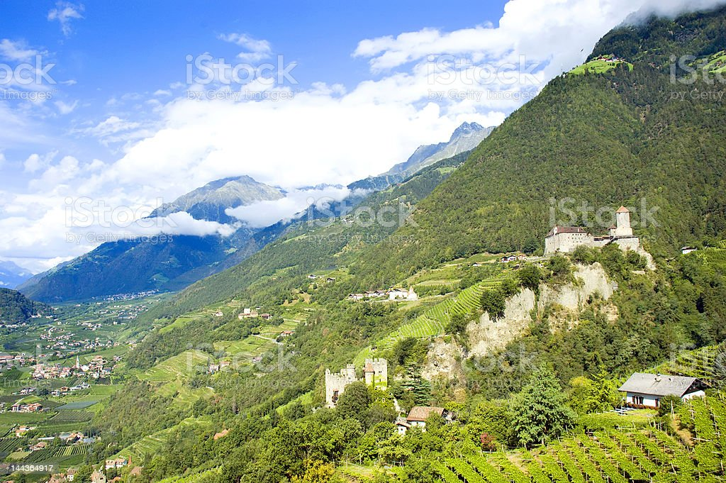 Tirolo castle royalty-free stock photo