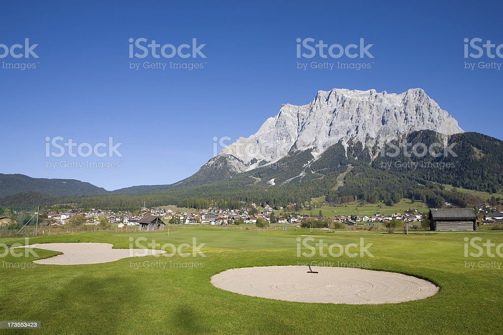 tyrolean golf course stock photo