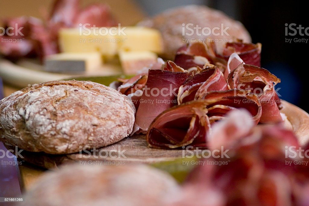 Tyrolean Ham Plate stock photo