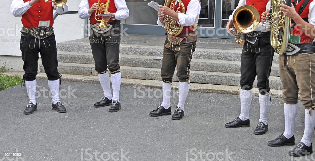 Tyrolean Music Band royalty-free stock photo