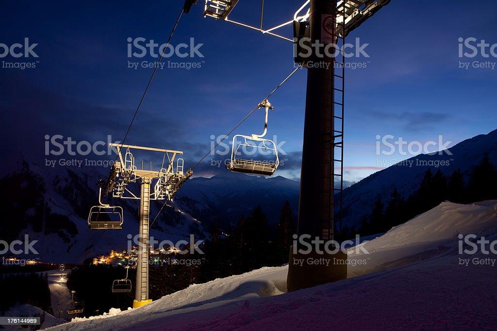 tyrolean ski lift royalty-free stock photo