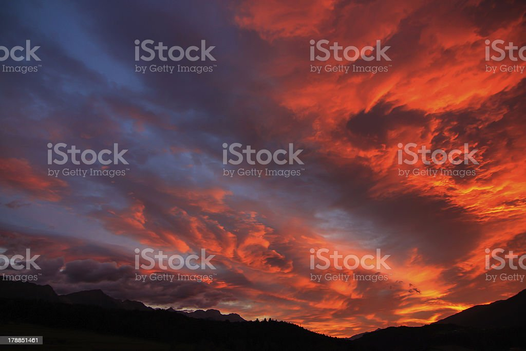 Tyrolean Sunrise royalty-free stock photo