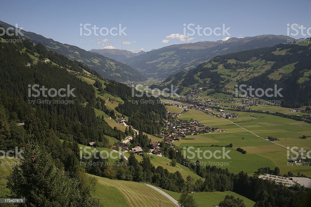 Tyrolean Valley in Austria stock photo