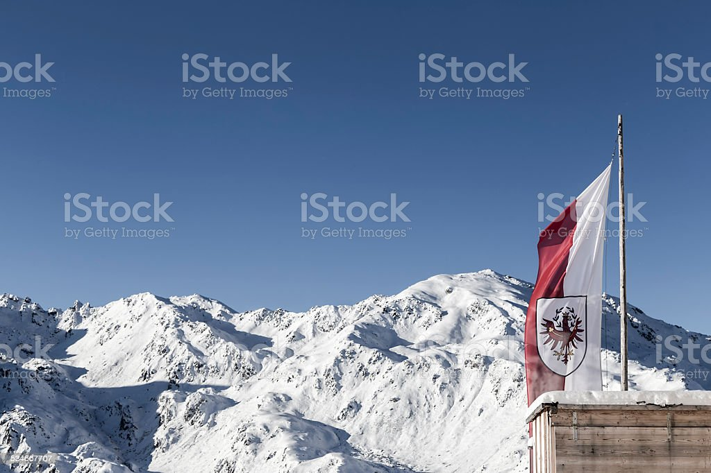 tyrolian mountains stock photo