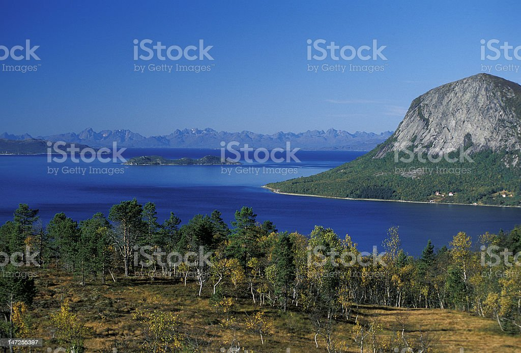 Tysfjorden landscape royalty-free stock photo