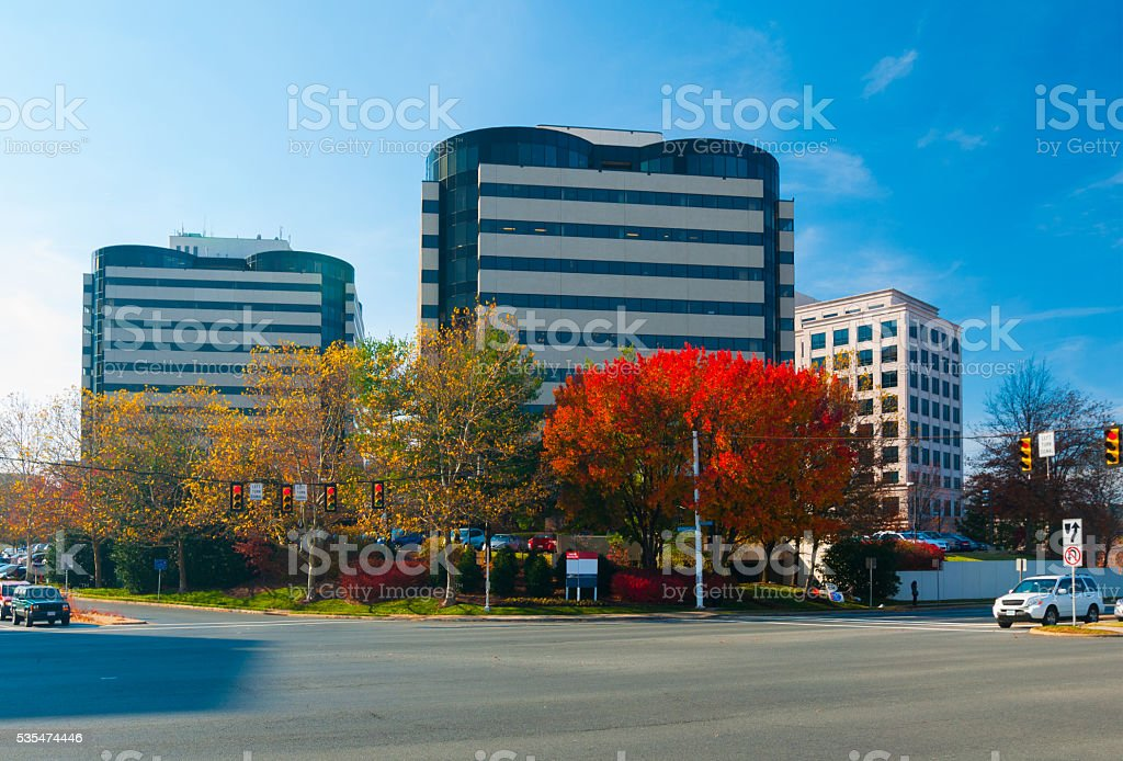 Tysons Corner buildings stock photo