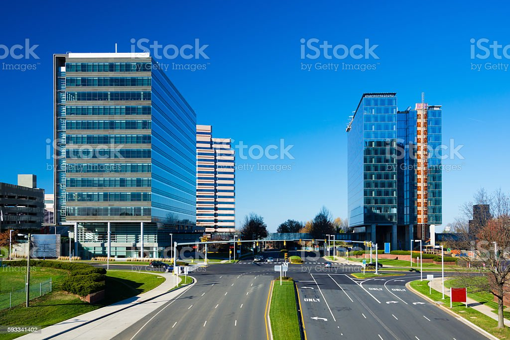 Tysons Corner Buildings stock photo