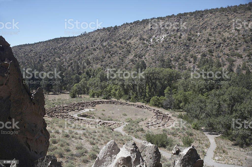 Tyuonyi pueblo - Bandelier National Monument 2 stock photo