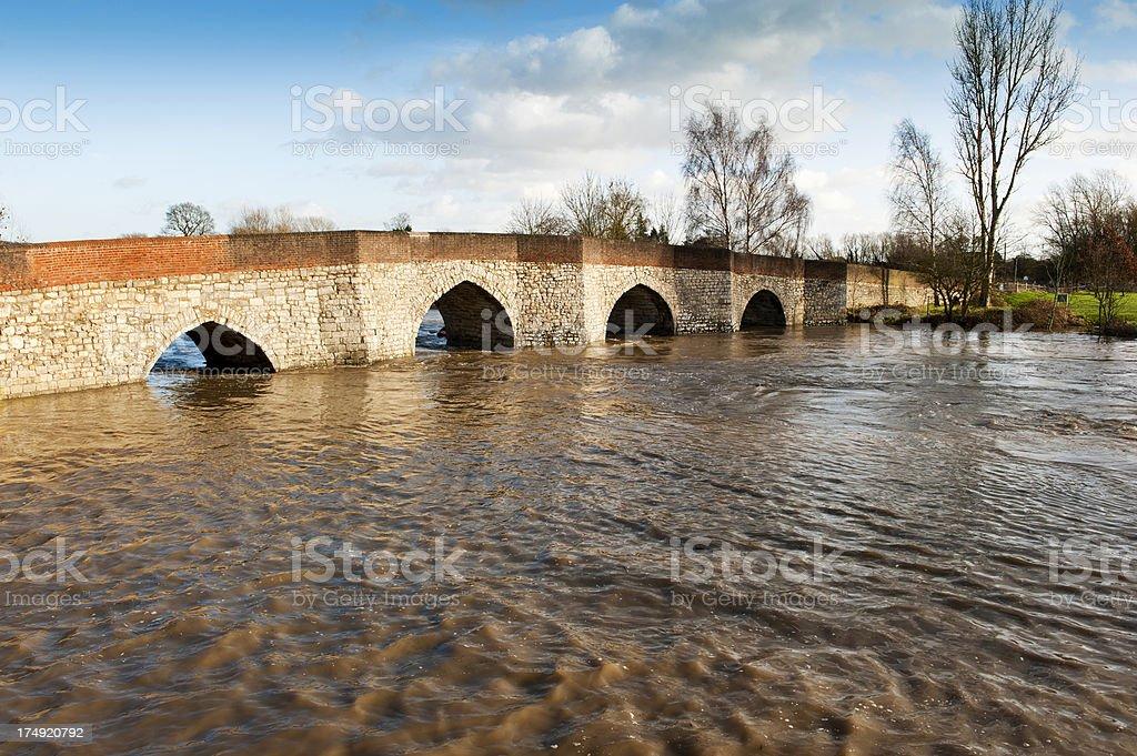 Tywford Bridge in Yalding stock photo