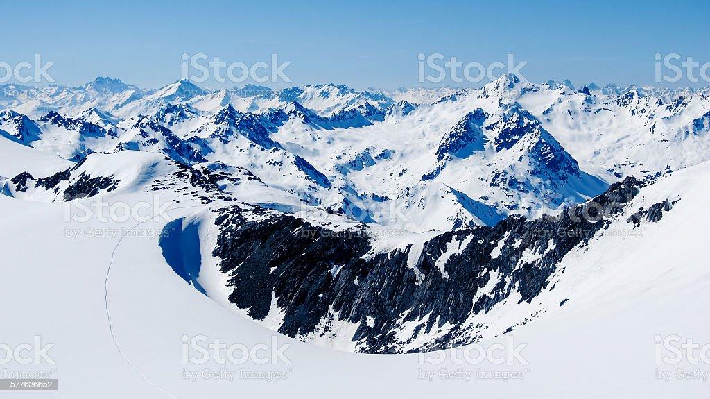 Ötztaler Alps Austria stock photo